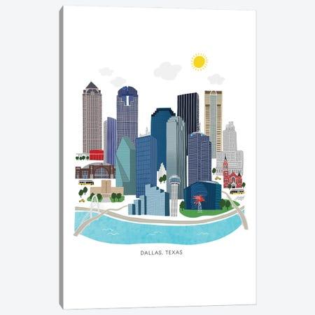 Dallas Skyline Illustration Canvas Print #LKC166} by LindseyKayCo Canvas Art Print