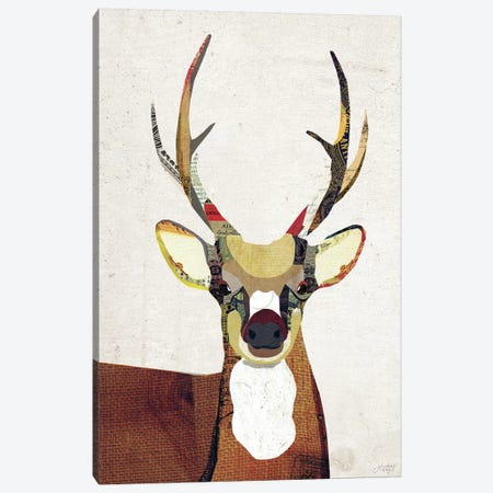 Deer Collage Canvas Print #LKC17} by LindseyKayCo Canvas Artwork
