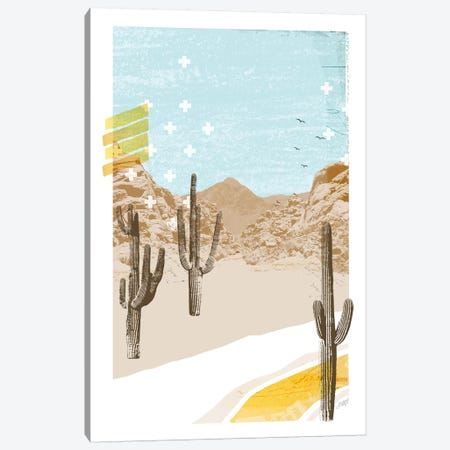 Desert Mountain Blue Collage Canvas Print #LKC18} by LindseyKayCo Art Print