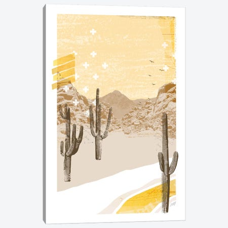 Desert Mountain Yellow Collage Canvas Print #LKC19} by LindseyKayCo Art Print