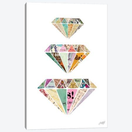 Diamonds Are A Girls Best Friend Canvas Print #LKC20} by LindseyKayCo Canvas Wall Art