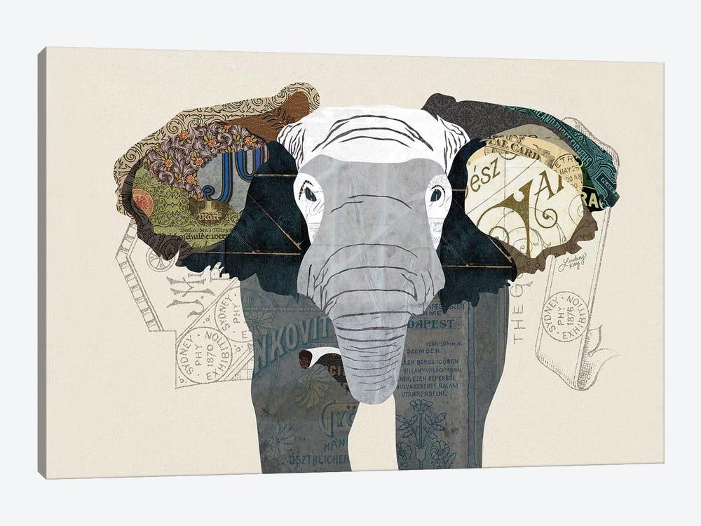 Elephant Collage by LindseyKayCo 1-piece Canvas Art