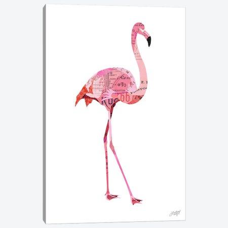 Flamingo Collage Canvas Print #LKC28} by LindseyKayCo Canvas Wall Art