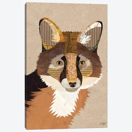 Fox Collage 3-Piece Canvas #LKC29} by LindseyKayCo Canvas Art