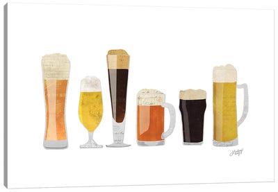 Beer Glasses Canvas Art Print