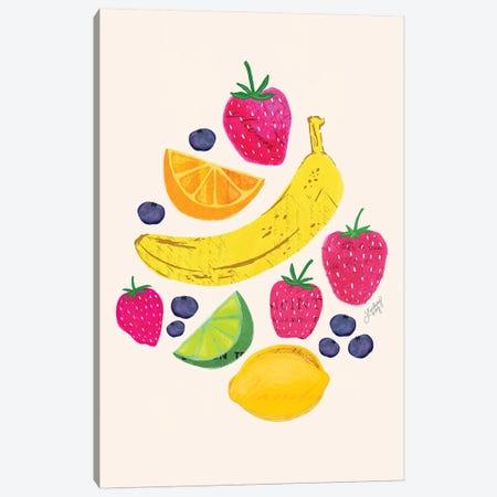 Fruit Collage Canvas Print #LKC30} by LindseyKayCo Canvas Art Print