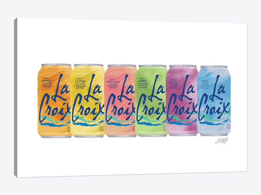 Lacroix Collage Illustration by LindseyKayCo 1-piece Canvas Art Print
