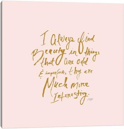 Marc Jacobs Quote Canvas Art Print