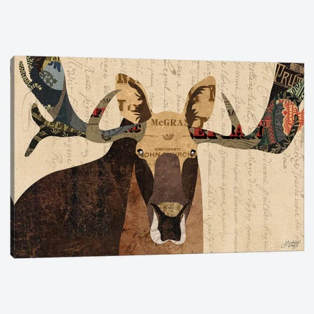 Moose Collage Canvas Print #LKC46} by LindseyKayCo Canvas Print