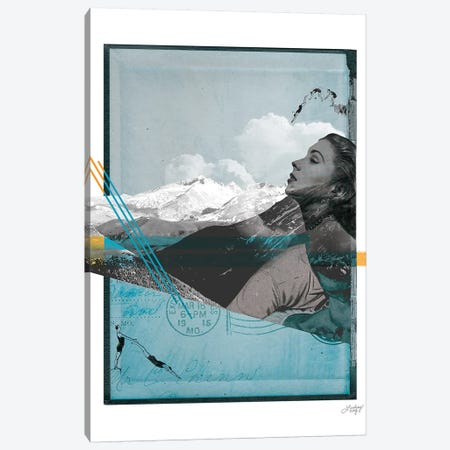 Mountain Myth Abstract Collage Canvas Print #LKC49} by LindseyKayCo Canvas Artwork