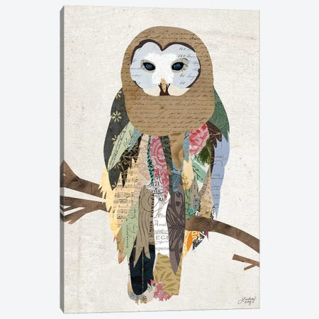 Owl Collage 3-Piece Canvas #LKC51} by LindseyKayCo Canvas Art Print