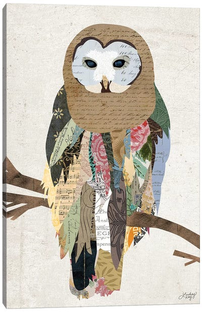 Owl Collage Canvas Art Print