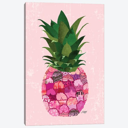 Pinneapple Collage Canvas Print #LKC59} by LindseyKayCo Canvas Print