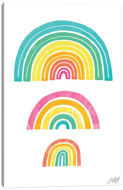 Rainbow Illustration Canvas Art Print