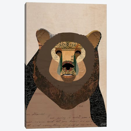 Brown Bear Collage Canvas Print #LKC6} by LindseyKayCo Canvas Art