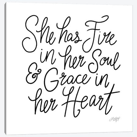 She Has Fire In Her Soul Canvas Print #LKC73} by LindseyKayCo Canvas Art Print