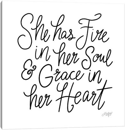She Has Fire In Her Soul Canvas Art Print