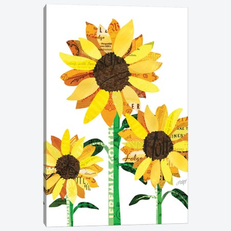 Sunflower Collage Canvas Print #LKC78} by LindseyKayCo Art Print