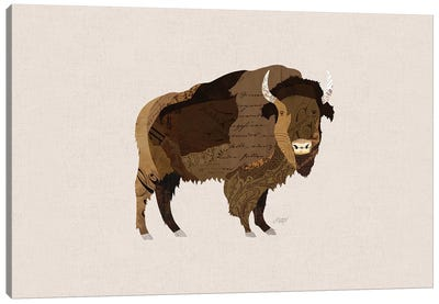 Buffalo Collage Canvas Art Print