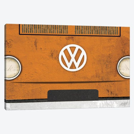 VW Bus Collage Canvas Print #LKC85} by LindseyKayCo Canvas Print