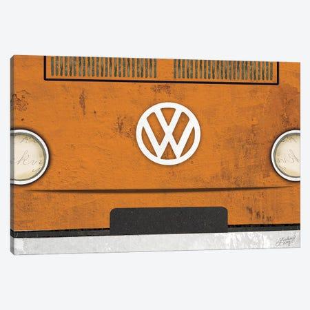 VW Bus Collage Canvas Print #LKC85} by LindseyKayCo Canvas Print