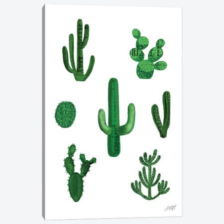 Cactus Collage Canvas Print #LKC8} by LindseyKayCo Canvas Print