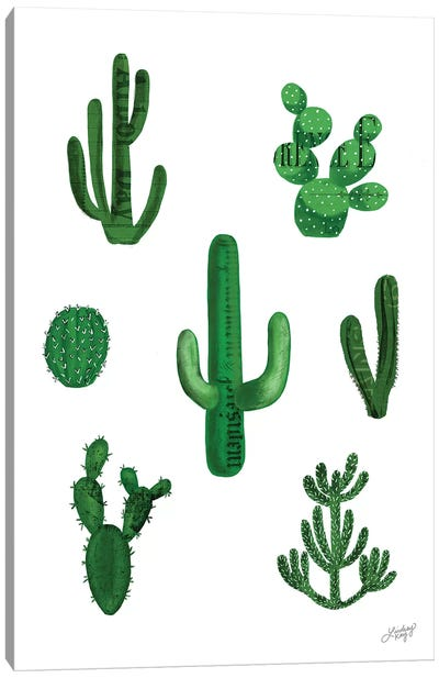Cactus Collage Canvas Art Print