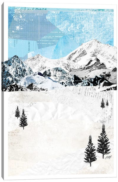Mountain Landscape Collage Canvas Art Print