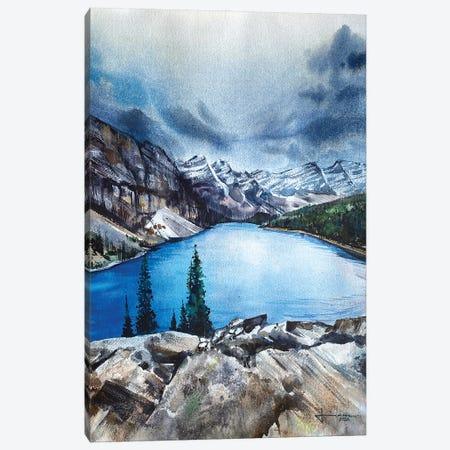 Alluring Moraine Canvas Print #LKM10} by Liam Kumawat Art Print