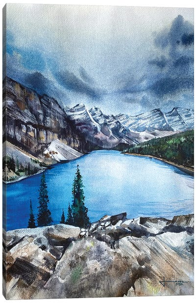 Alluring Moraine Canvas Art Print