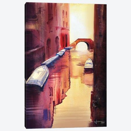 Venice Canal I Canvas Print #LKM12} by Liam Kumawat Canvas Print