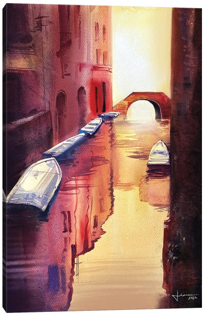 Venice Canal I Canvas Art Print