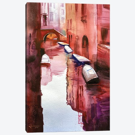Venice Canal II Canvas Print #LKM13} by Liam Kumawat Canvas Art Print