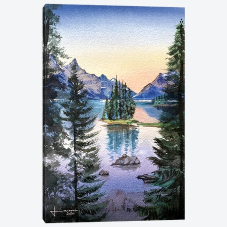 Pine Canvas Print #LKM18} by Liam Kumawat Canvas Print