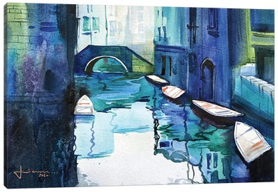 Blue Venice Canvas Art Print