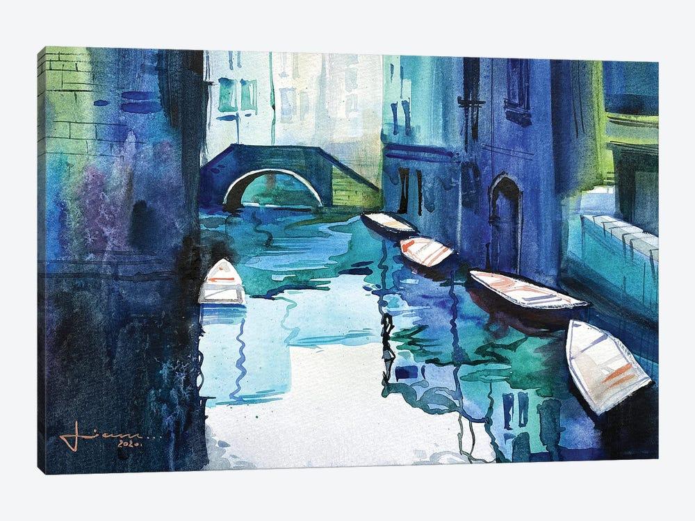 Blue Venice by Liam Kumawat 1-piece Canvas Art