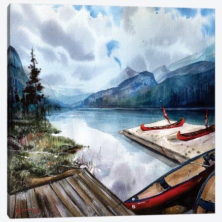 Lake Louise Canvas Print #LKM22} by Liam Kumawat Canvas Art