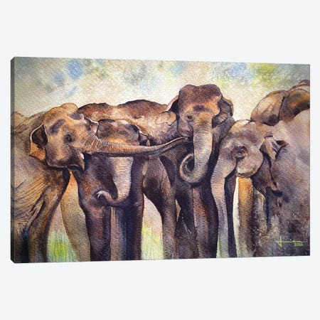 Gathering Canvas Print #LKM33} by Liam Kumawat Canvas Art Print
