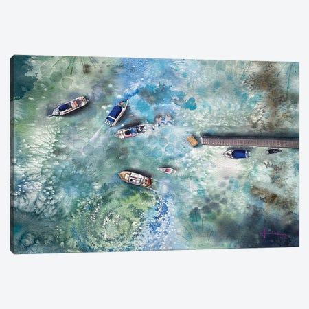 Dock Canvas Print #LKM35} by Liam Kumawat Canvas Artwork