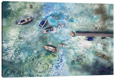 Dock Canvas Art Print