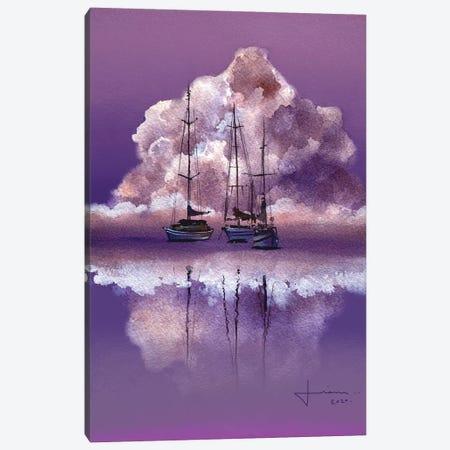 Purple Horizon Canvas Print #LKM38} by Liam Kumawat Art Print