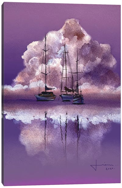 Purple Horizon Canvas Art Print