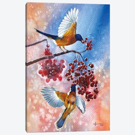 Blue Tit Canvas Print #LKM51} by Liam Kumawat Canvas Print