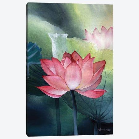 Water Lily I Canvas Print #LKM52} by Liam Kumawat Canvas Print