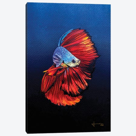Red Beta Canvas Print #LKM54} by Liam Kumawat Canvas Wall Art