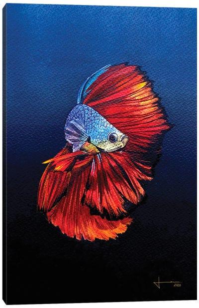 Red Beta Canvas Art Print
