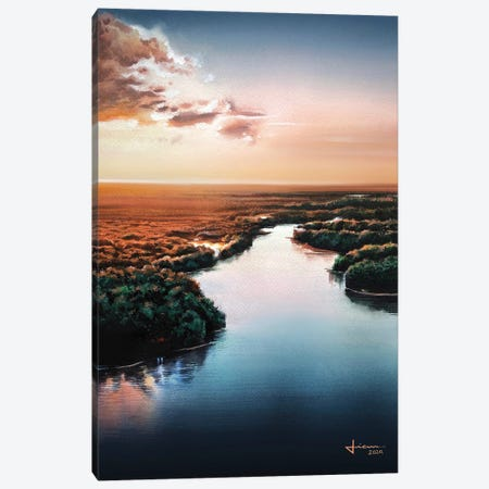 Sunset Canvas Print #LKM55} by Liam Kumawat Canvas Artwork