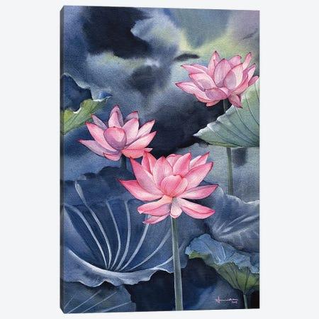 Water Lily III Canvas Print #LKM56} by Liam Kumawat Canvas Art