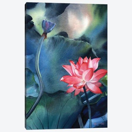Water Lily V Canvas Print #LKM58} by Liam Kumawat Art Print