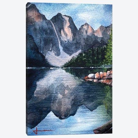 Mountain Reflection Canvas Print #LKM59} by Liam Kumawat Art Print